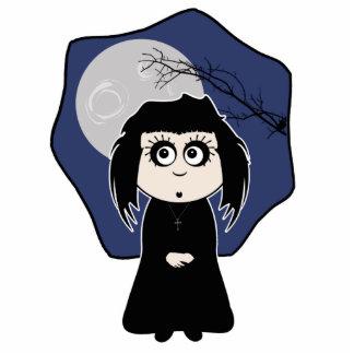 Goth Girl Standing Photo Sculpture