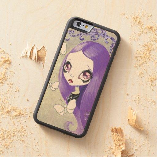 """Goth Girl : """"Violetta"""" Carved® Maple iPhone 6 Bumper"""