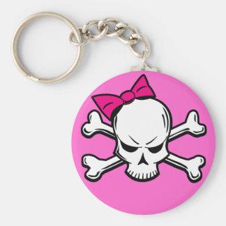 Goth girly skull - keychain