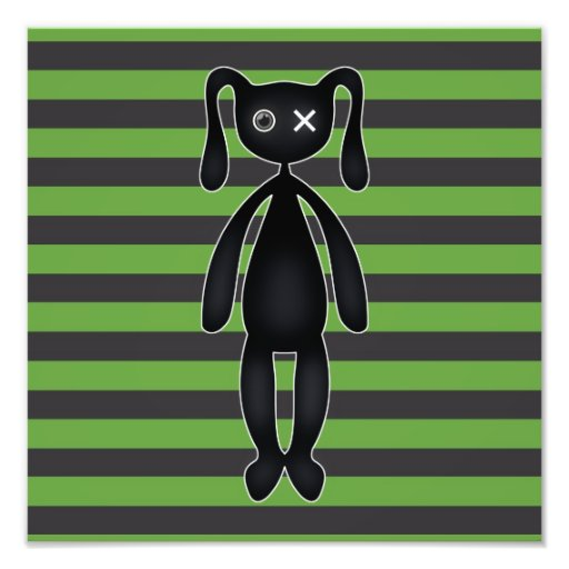 Goth Green and Black Bunny Photo