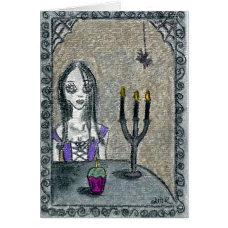 Goth Halloween Card