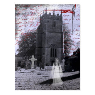 Goth Haunted Cemetery Postcard