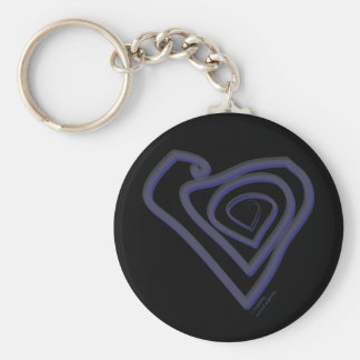 Goth Heart Keychain. Key Ring