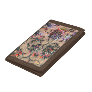 Goth Lace Roses Tri-fold Wallet