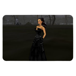 Goth Lady In A Graveyard Magnet