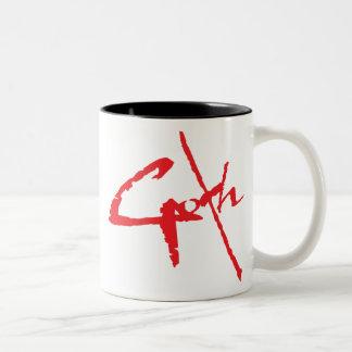 goth_logo Two-Tone mug