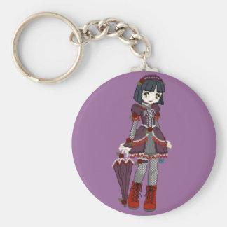Goth Lolita Girl Key Ring