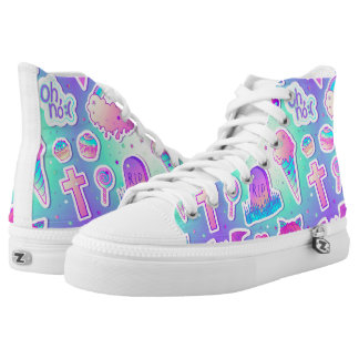 Goth Pastel High Tops Printed Shoes