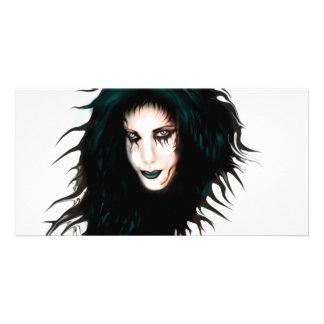 Goth Custom Photo Card