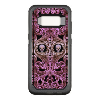Goth Pink Ornament with Skull OtterBox Commuter Samsung Galaxy S8 Case