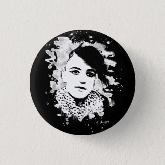 Goth punk Girl 3 Cm Round Badge