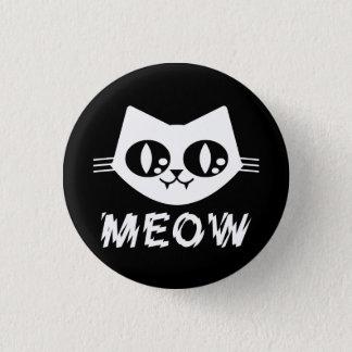 Goth Punk Kitty Meow Pin