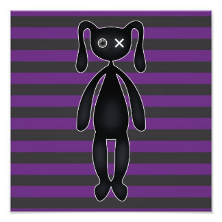 Goth Purple and Black Bunny Photo