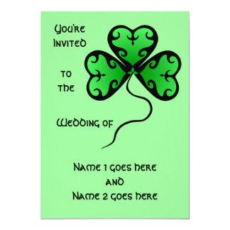 Goth shamrock St. Patrick's day wedding Card