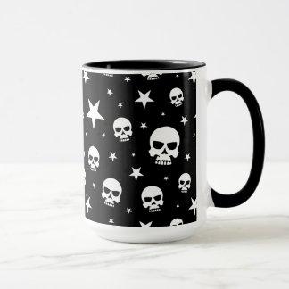 Goth Skull and Stars Mug