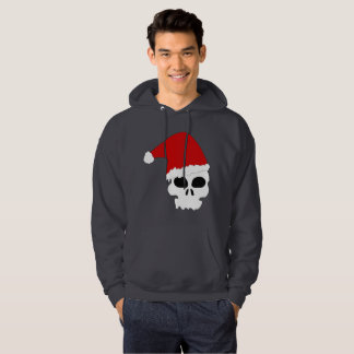 goth skull christmas mens hooded hoodie sweatshirt