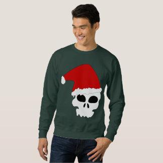 goth skull christmas mens sweatshirt