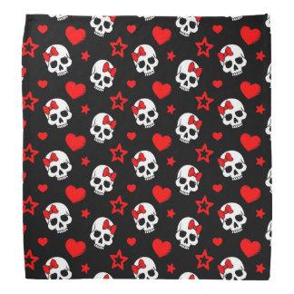Goth Skulls & Hearts Bandana