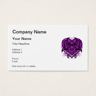 Goth Tribal Flourish Purple Heart