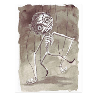 Goth Ugly Puppet Postcard