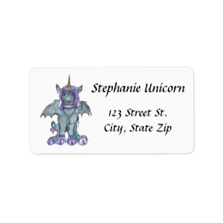 Goth Unicorn Address Labels