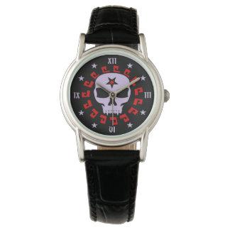 Goth Vampire Skull with Pentagram and Stars Watch