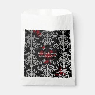 Goth vampire wedding favour bags