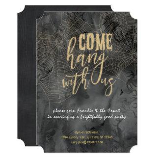 Goth Web Halloween Party Invitation