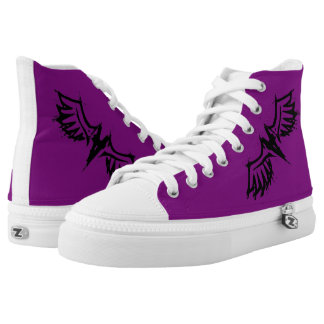 GOTH WINGS BOOTS PRINTED SHOES