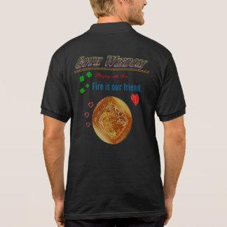 Goth Wisdom Fire Polo Shirt