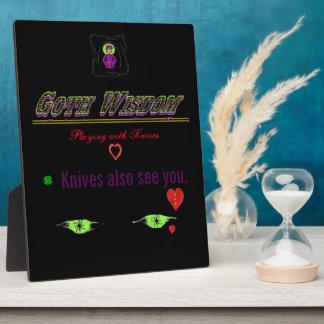 Goth Wisdom Knives Plaque