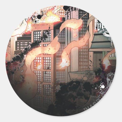 Gotham Burning Round Stickers