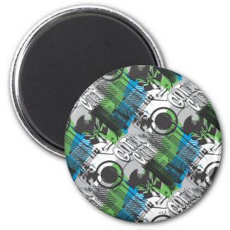 Gotham City Pattern 6 Cm Round Magnet