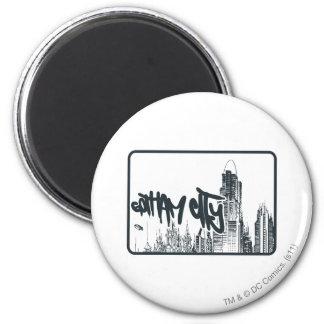 Gotham City Sticker 6 Cm Round Magnet
