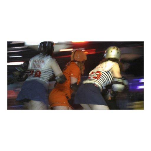Gotham Girls Roller Derby Personalized Photo Card