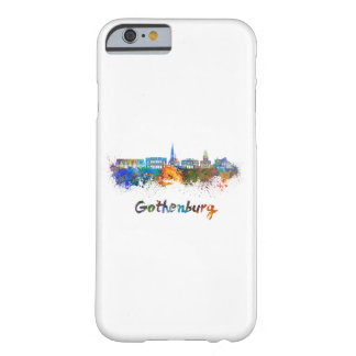 Gothenburg skyline in watercolor barely there iPhone 6 case
