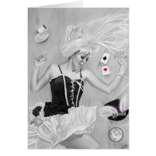Gothic Alice In wonderland FallingCard Cards