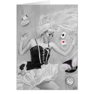 Gothic Alice In wonderland FallingCard Card