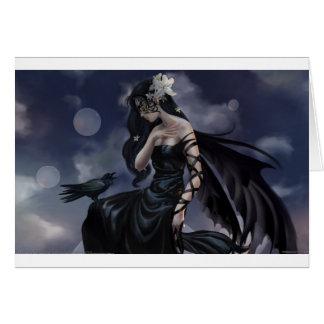 Gothic angel card