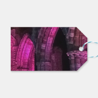 Gothic arches old ruined Whitby abbey Gift Tags