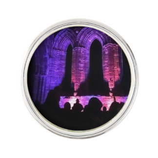 Gothic arches old ruined Whitby abbey Lapel Pin