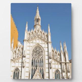 Gothic architecture in Rome, Italy Plaque