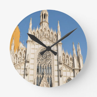 Gothic architecture in Rome, Italy Round Clock