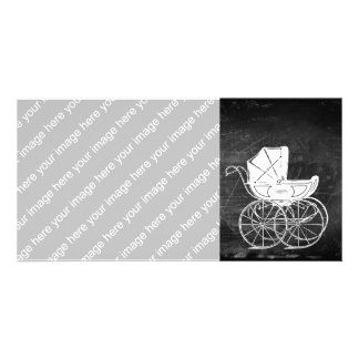Gothic Baby Carriage Personalized Photo Card