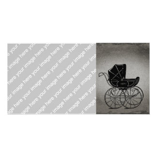 Gothic Baby Carriage Picture Card