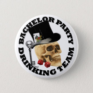 Gothic Bachelor party drinking team 6 Cm Round Badge