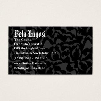 Gothic Bats Vampire Pattern Business Card