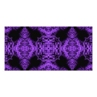 Gothic Black and Purple Design Photo Card
