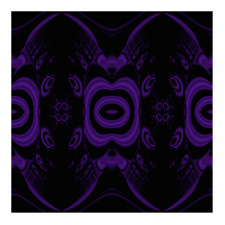 Gothic Black and Purple Floral Pattern. Photo Sculpture