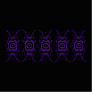 Gothic Black and Purple Floral Pattern. Standing Photo Sculpture